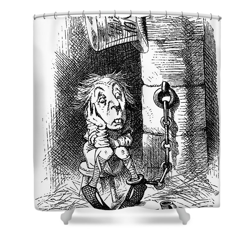 1872 Shower Curtain featuring the photograph Carroll: Looking Glass by Granger