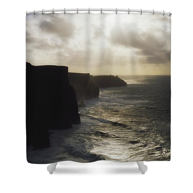 Beauty In Nature Shower Curtain featuring the photograph Cliffs Of Moher, Co Clare, Ireland by The Irish Image Collection
