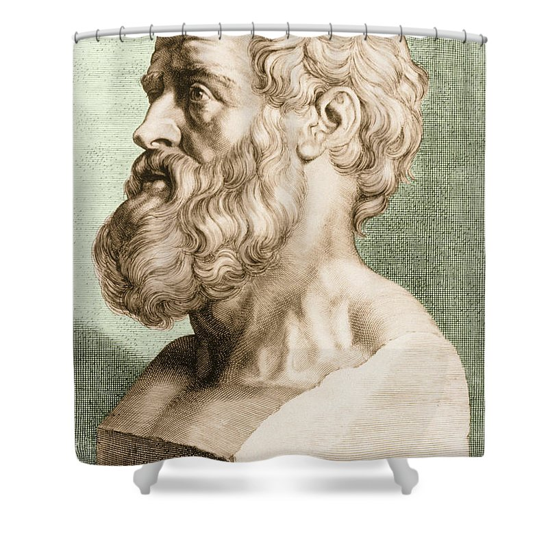 Hippocrates Shower Curtain featuring the photograph Hippocrates, Greek Physician by Science Source