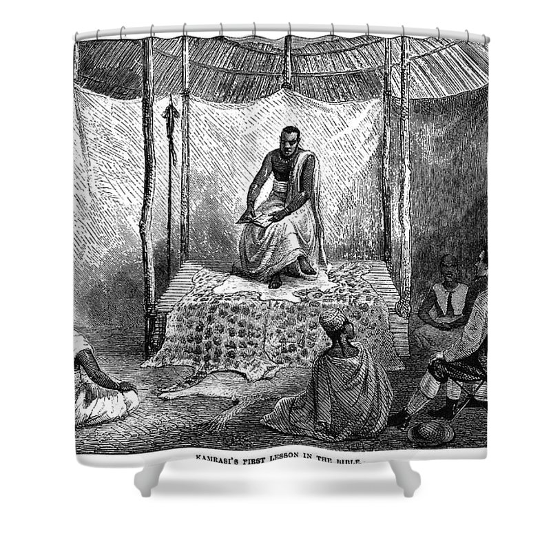 1862 Shower Curtain featuring the photograph John H. Speke (1827-1864) by Granger