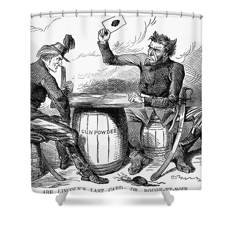 Lincoln Cartoon 1862 Shower Curtain For Sale By Granger