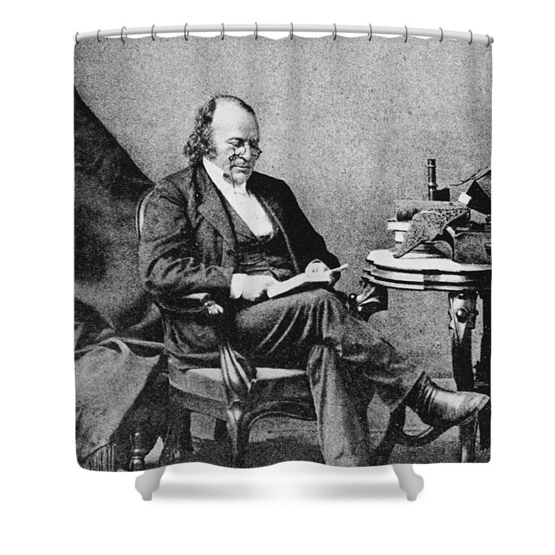 Science Shower Curtain featuring the photograph Louis Agassiz, Swiss-american Polymath by Science Source