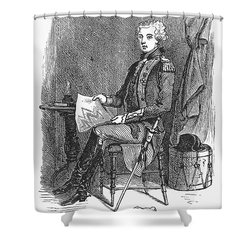 18th Century Shower Curtain featuring the photograph Marquis De Lafayette by Granger