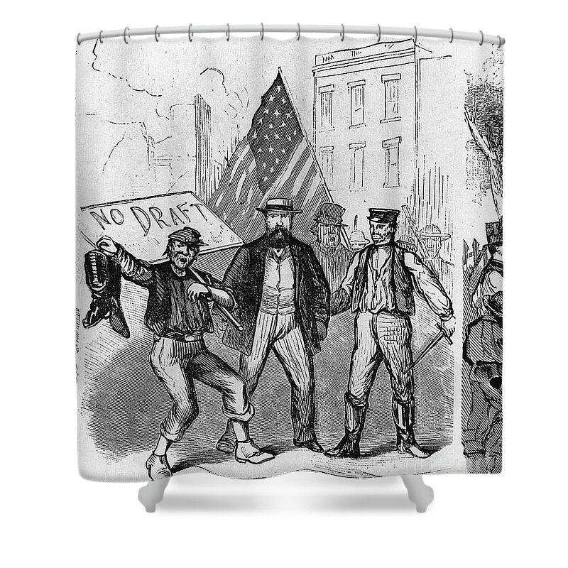 1863 Shower Curtain featuring the photograph New York: Draft Riots, 1863 by Granger