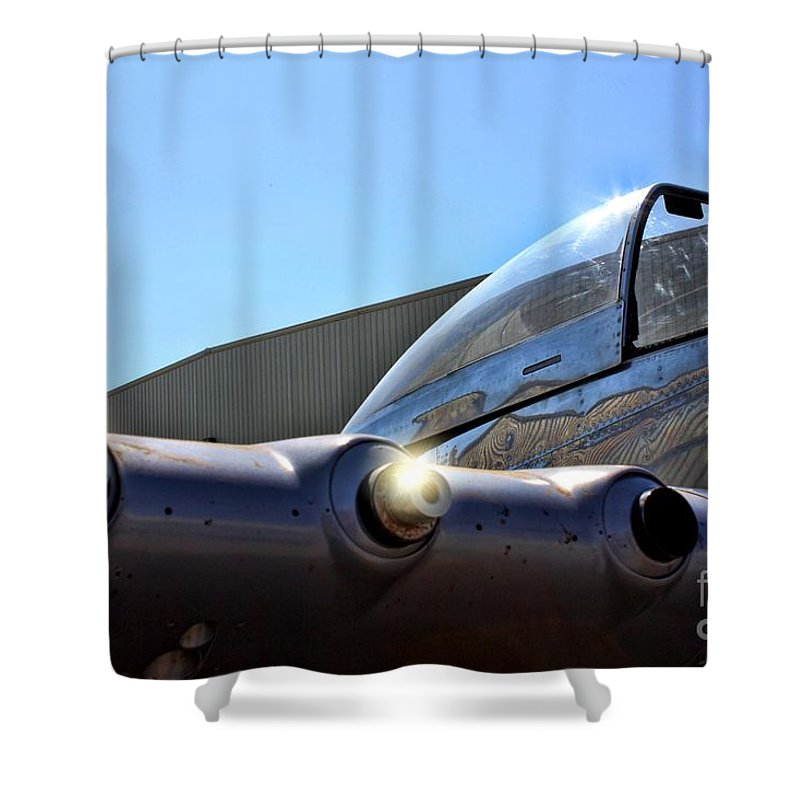 North American P-51d Mustang Shower Curtain featuring the photograph North American P-51 Mustang by Tommy Anderson