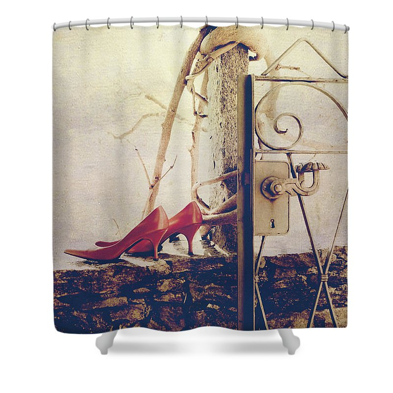 Garden Wall Shower Curtains