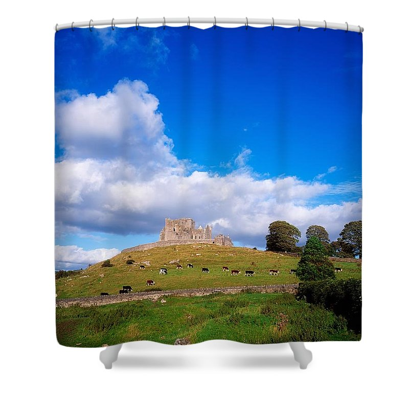 Ancient Shower Curtain featuring the photograph Rock Of Cashel, Co Tipperary, Ireland by The Irish Image Collection