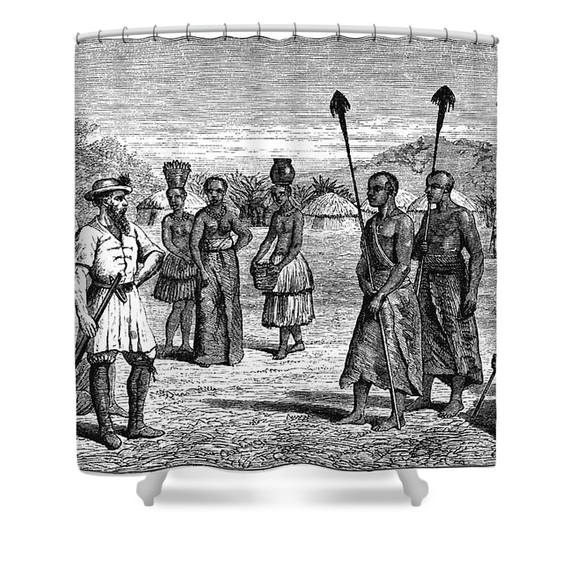 1864 Shower Curtain featuring the photograph Samuel White Baker by Granger