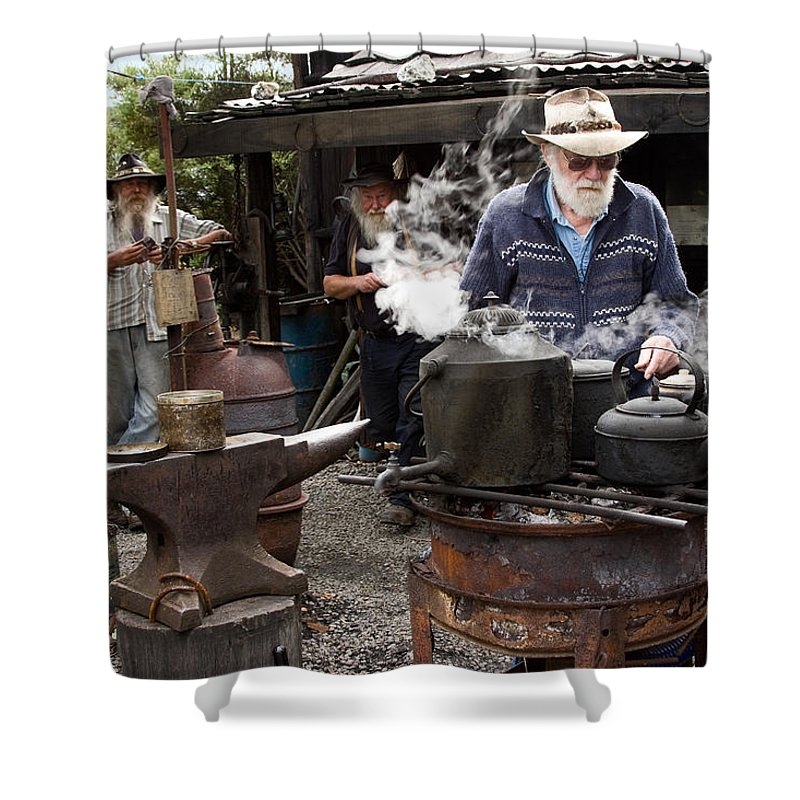 Bearded Miners Hut Shower Curtain featuring the photograph Thank You by Sally Weigand