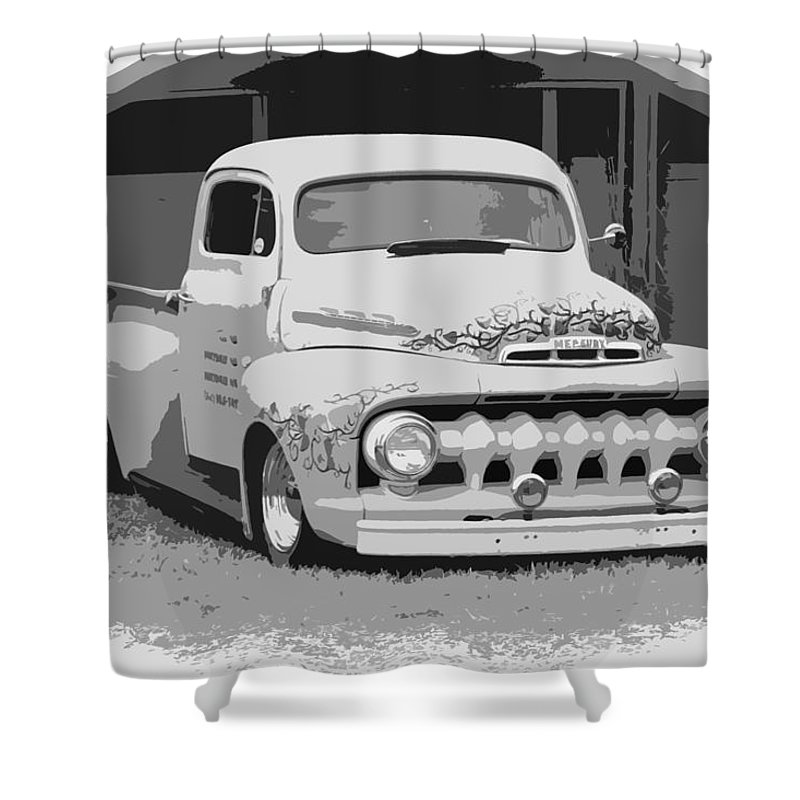Chopped Shower Curtain featuring the photograph 51 Ford Pickup by Steve McKinzie