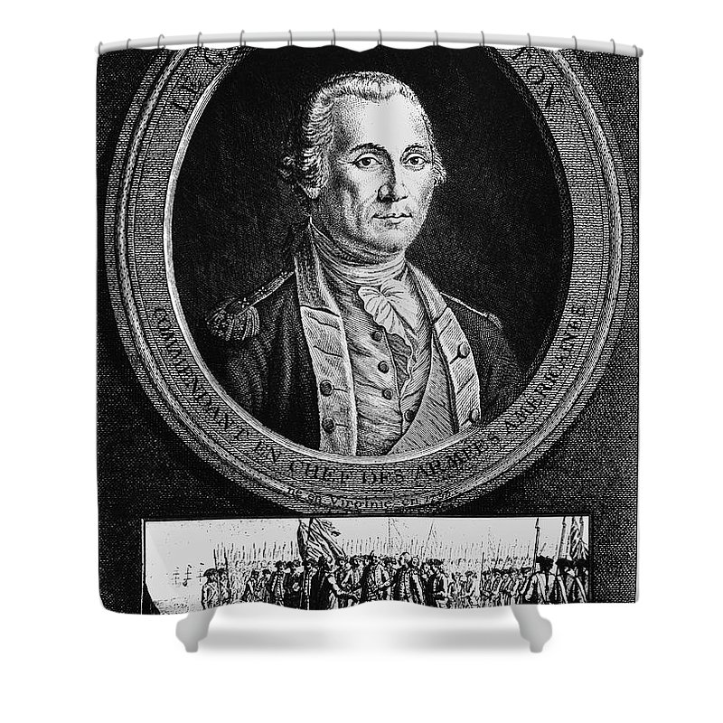 18th Century Shower Curtain featuring the photograph George Washington by Granger
