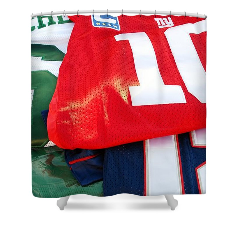 New York Giants Shower Curtain featuring the photograph 6 10 12 by Rob Hans