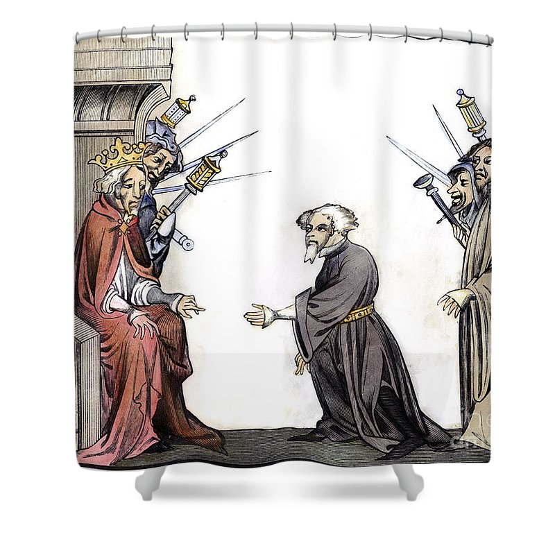 8th Century Shower Curtain featuring the photograph Charlemagne (742-814) by Granger