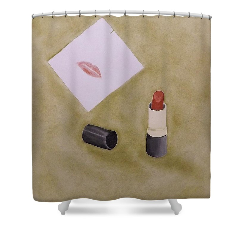 6 Forty-five Pm Shower Curtain featuring the pastel 6 Forty-five P.m. by Elizabeth Sullivan