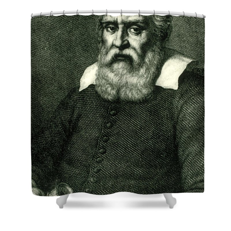 Science Shower Curtain featuring the photograph Galileo Galilei, Italian Polymath by Science Source