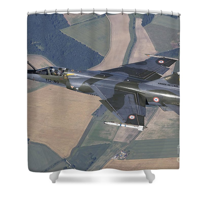 Evreux Shower Curtain featuring the photograph Mirage F1cr Of The French Air Force by Gert Kromhout
