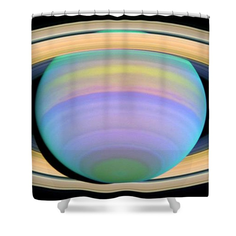 Saturn Shower Curtain featuring the photograph Saturn by Nasa