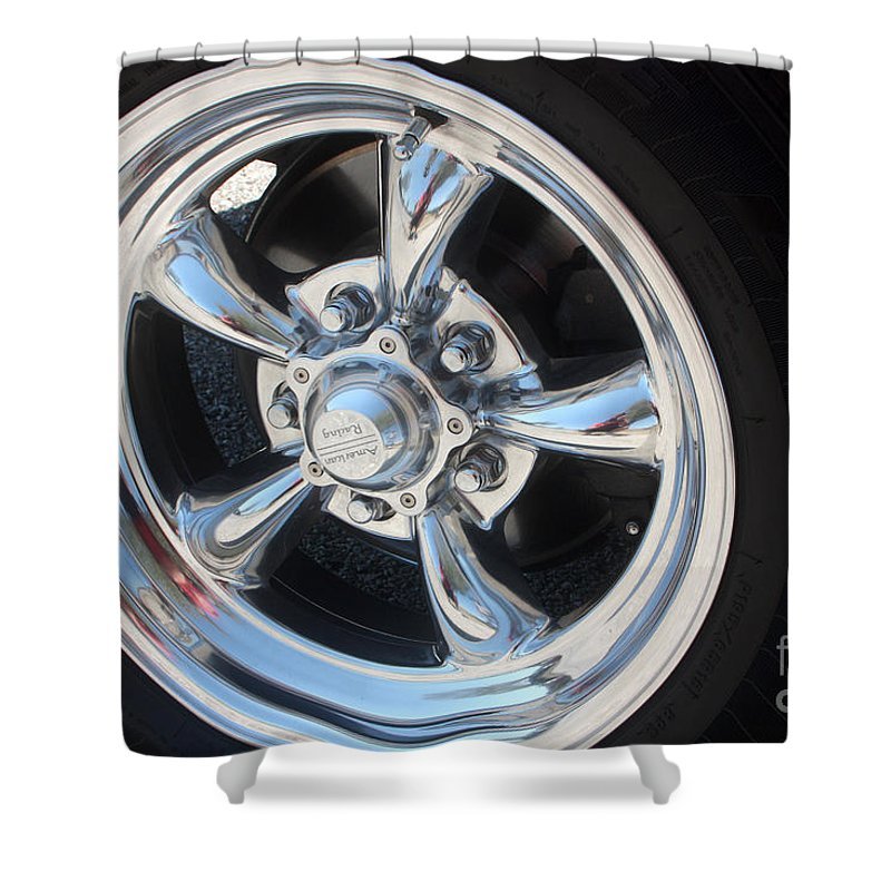 Chevrolet Shower Curtain featuring the photograph 65 Malibu Ss 7829 by Gary Gingrich Galleries