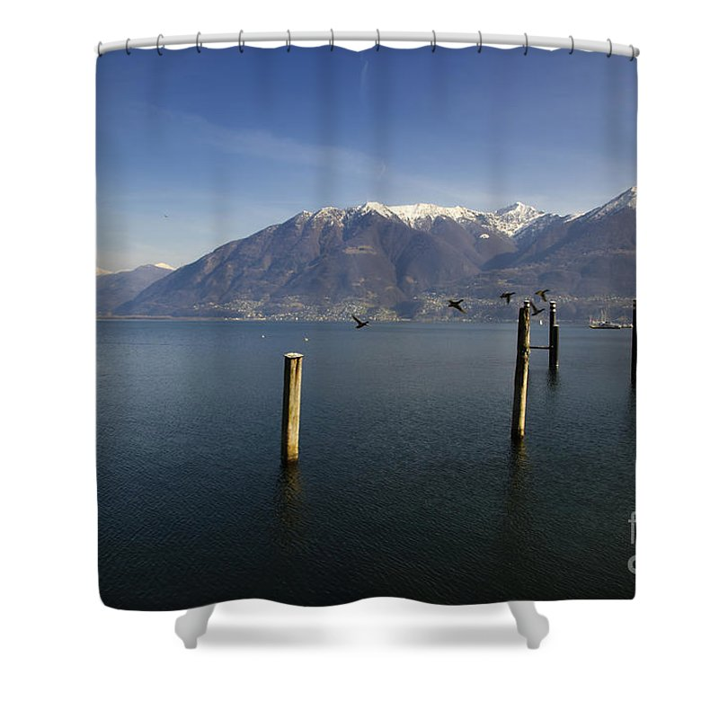 Lake Shower Curtain featuring the photograph Alpine Lake by Mats Silvan
