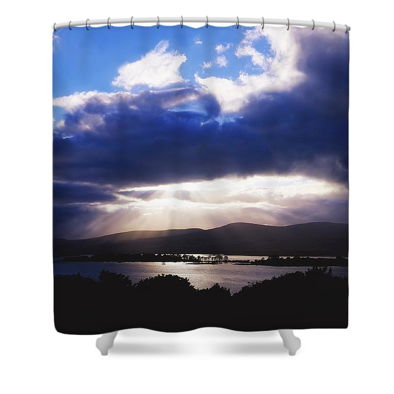 Beauty In Nature Shower Curtain featuring the photograph Kenmare Bay, Dunkerron Islands, Co by The Irish Image Collection