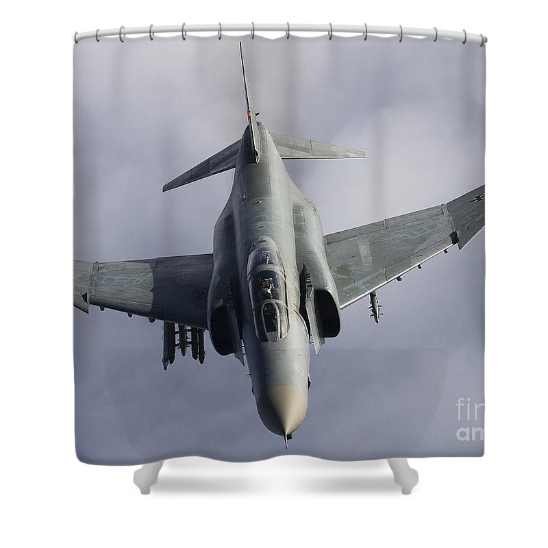 Germany Shower Curtain featuring the photograph Luftwaffe F-4f Phantom II by Gert Kromhout
