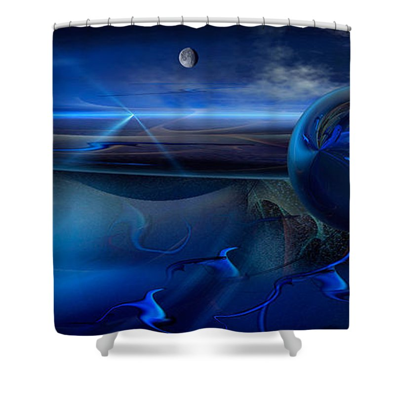 Phil Sadler 714 Shower Curtain featuring the digital art 714 by Phil Sadler