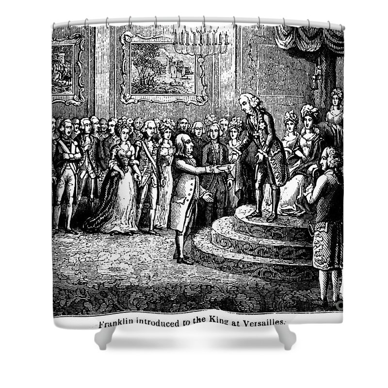 1778 Shower Curtain featuring the photograph Benjamin Franklin by Granger