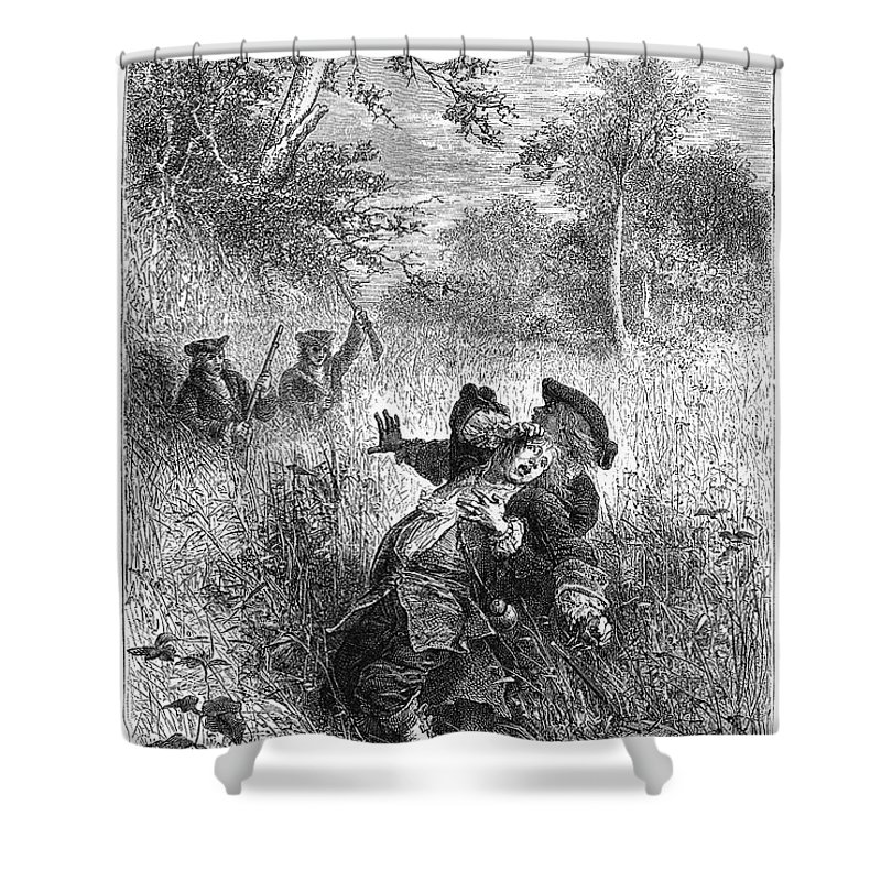 1687 Shower Curtain featuring the photograph Sieur De La Salle by Granger