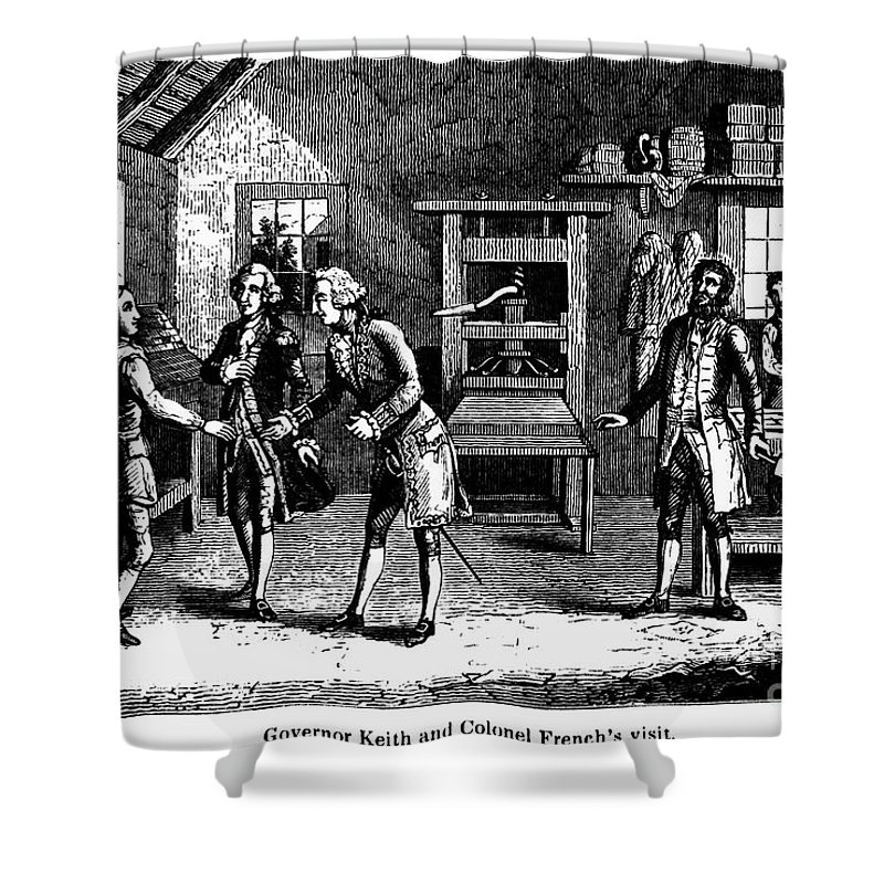 1724 Shower Curtain featuring the photograph Benjamin Franklin by Granger