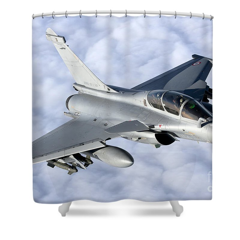 Evreux Shower Curtain featuring the photograph Dassault Rafale B Of The French Air by Gert Kromhout