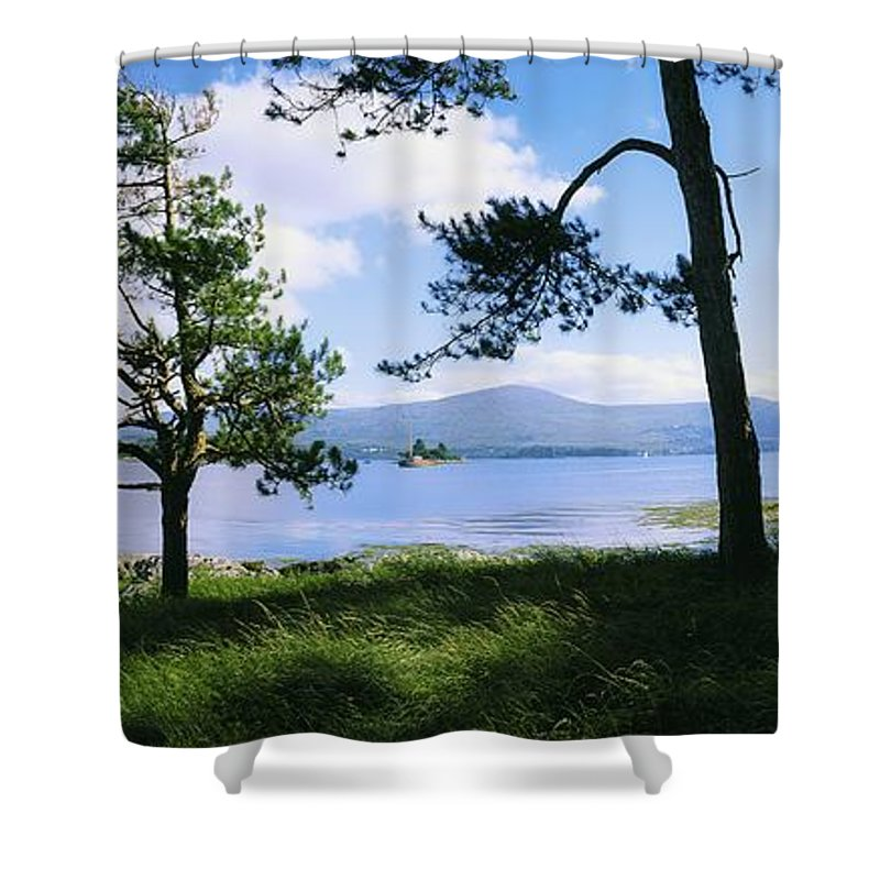 Co Kerry Shower Curtain featuring the photograph Kenmare Bay, Dunkerron Islands, Co by The Irish Image Collection
