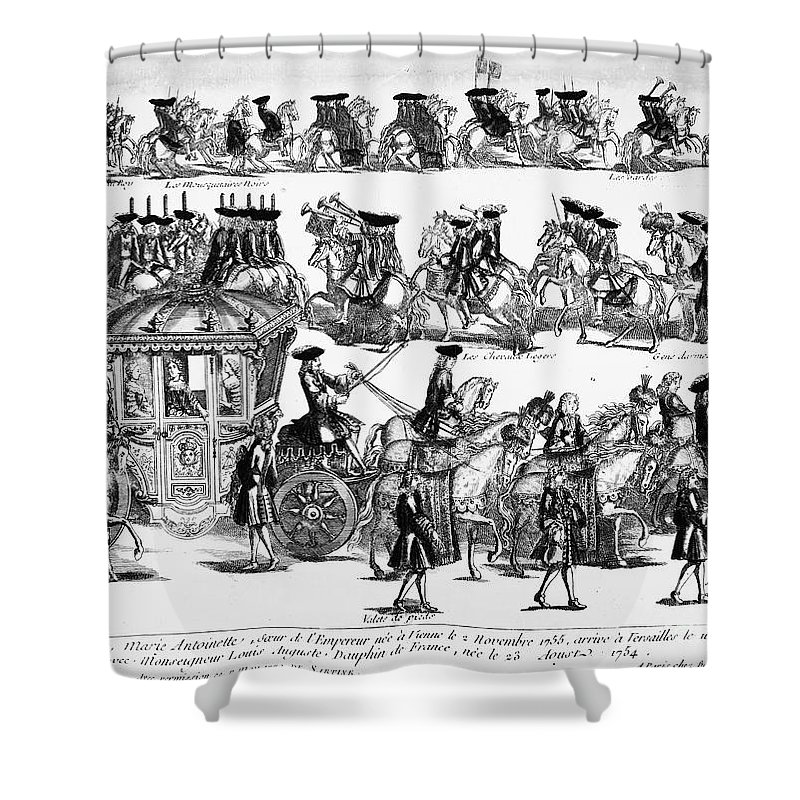 1770 Shower Curtain featuring the photograph Marie Antoinette (1755-1793) by Granger