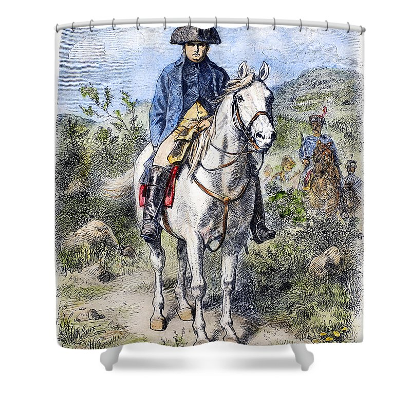 19th Century Shower Curtain featuring the photograph Napoleon I (1769-1821) by Granger