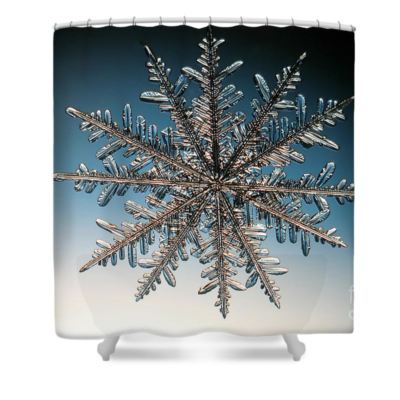 Snowflake Shower Curtain featuring the photograph Snowflake by Ted Kinsman