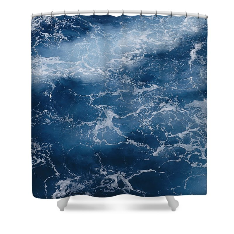 Virgin Islands Shower Curtain featuring the photograph A Close View Of Different Shades by Todd Gipstein