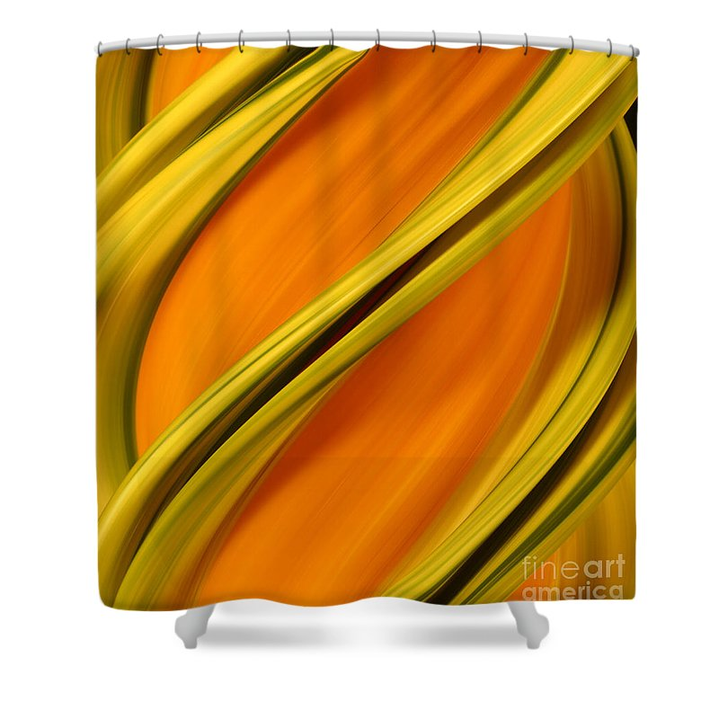 Flower Shower Curtain featuring the photograph A Digital Streak Image Of A Squash by Ted Kinsman