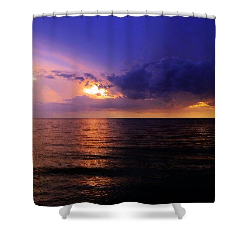 Beach Shower Curtain featuring the photograph A Drop In The Ocean by Melanie Moraga