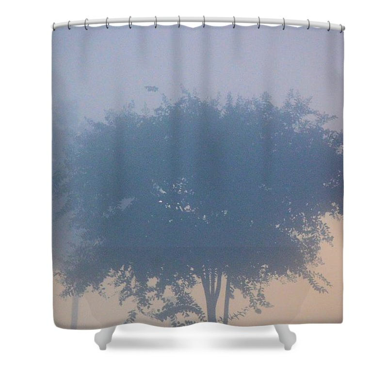 A Gothic Silhouette Shower Curtain featuring the photograph A Gothic Silhouette by Maria Urso