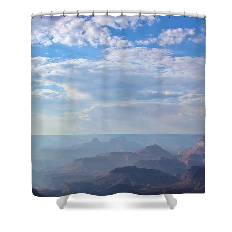 The Grand Canyon Shower Curtain featuring the photograph A Grand View by Heidi Smith