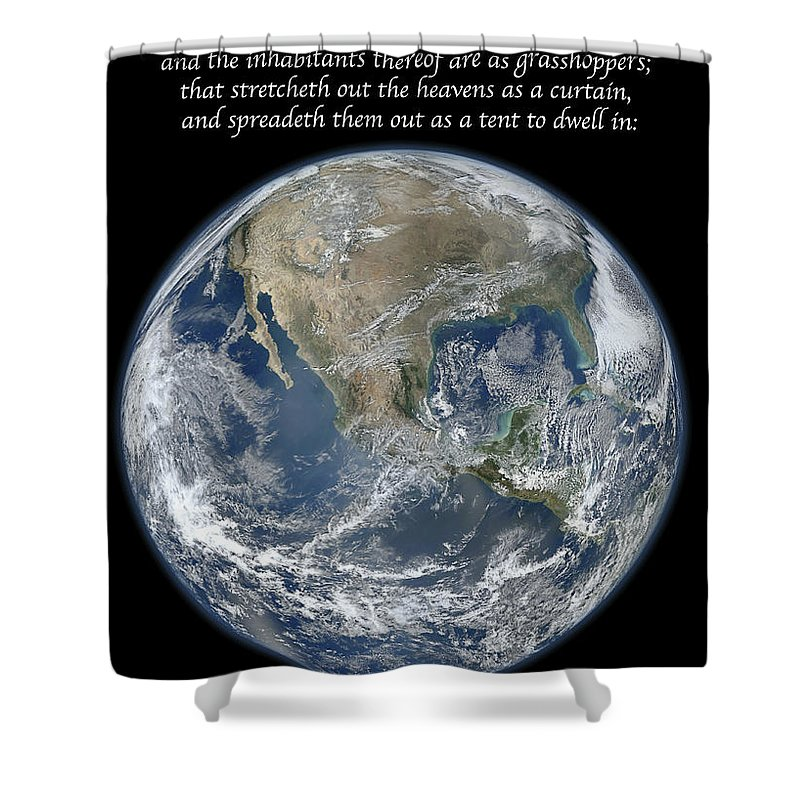 Earth Shower Curtain featuring the photograph A Higher View by Michael Peychich