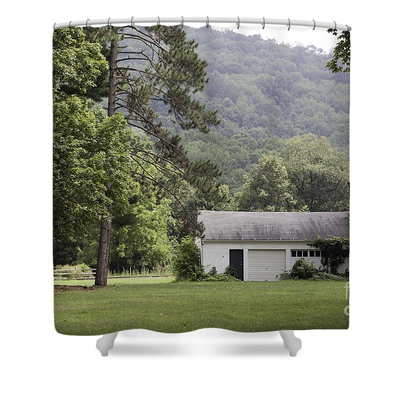 House Shower Curtain featuring the photograph A Little White House by Madeline Ellis