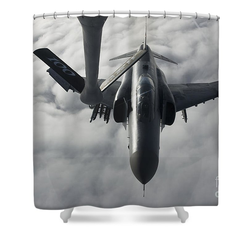 Germany Shower Curtain featuring the photograph A Luftwaffe F-4f Phantom II Approaches by Gert Kromhout