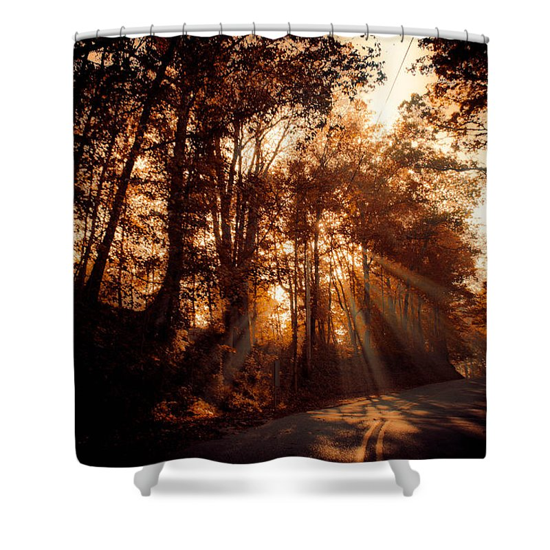 Ray Shower Curtain featuring the photograph A New Dawn by Trish Tritz