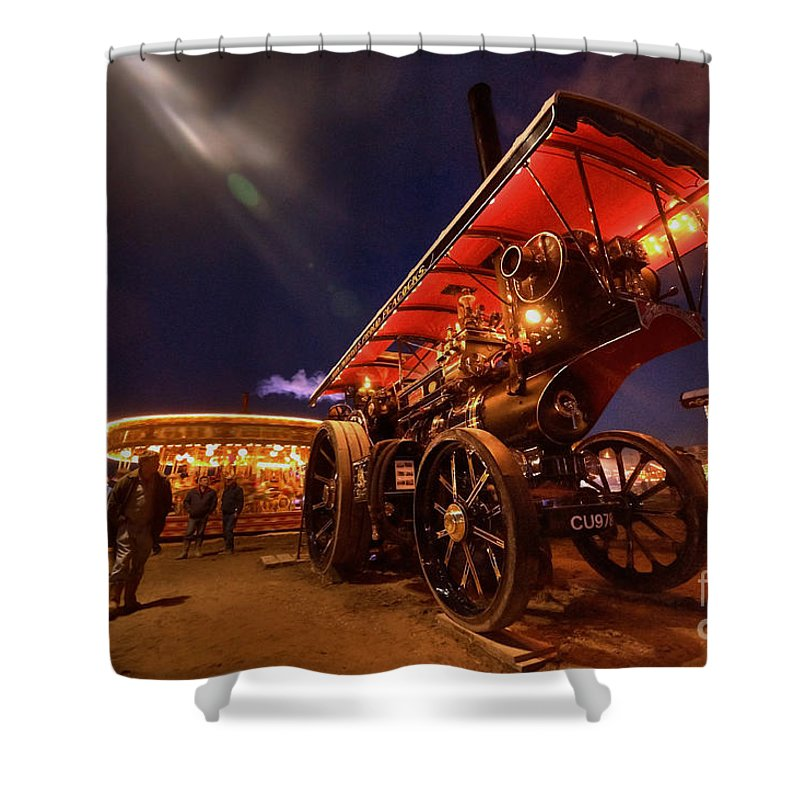 Great Shower Curtain featuring the photograph A Night Of Steam by Rob Hawkins