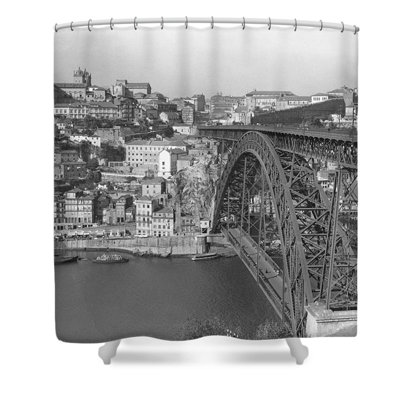 oporto Shower Curtain featuring the photograph A Portion Of Porto And Its Large by W. Robert Moore