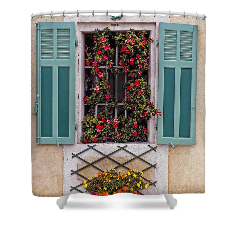 Window Shower Curtain featuring the photograph A Provence Window by Dave Mills
