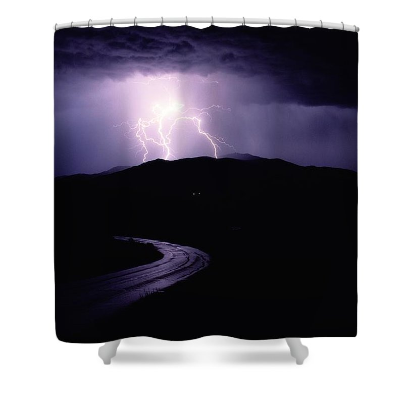 Yellowstone National Park Shower Curtain featuring the photograph A Summer Storm In Yellowstone National by Raymond Gehman