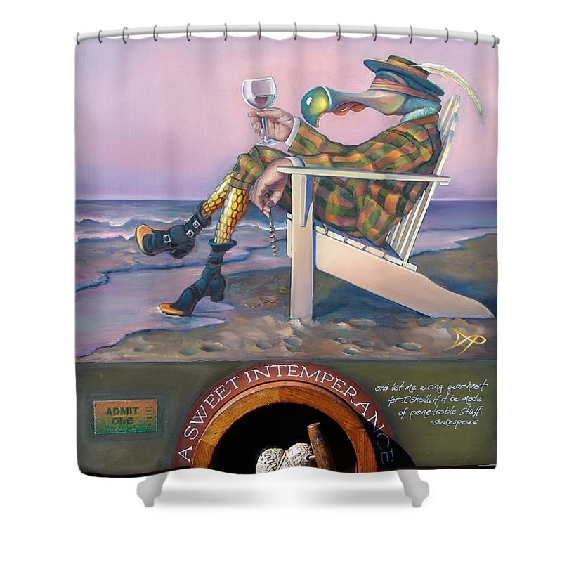 Beach Shower Curtain featuring the painting A Sweet Intemperance by Patrick Anthony Pierson