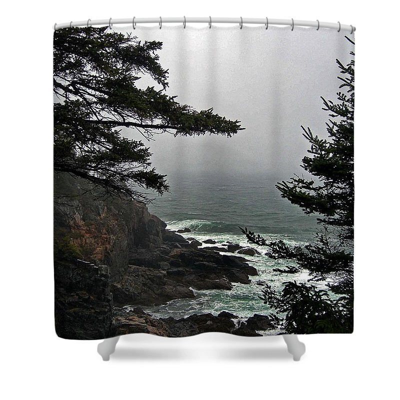 Me Shower Curtain featuring the photograph A Tricky Acadian Cove by Skip Willits