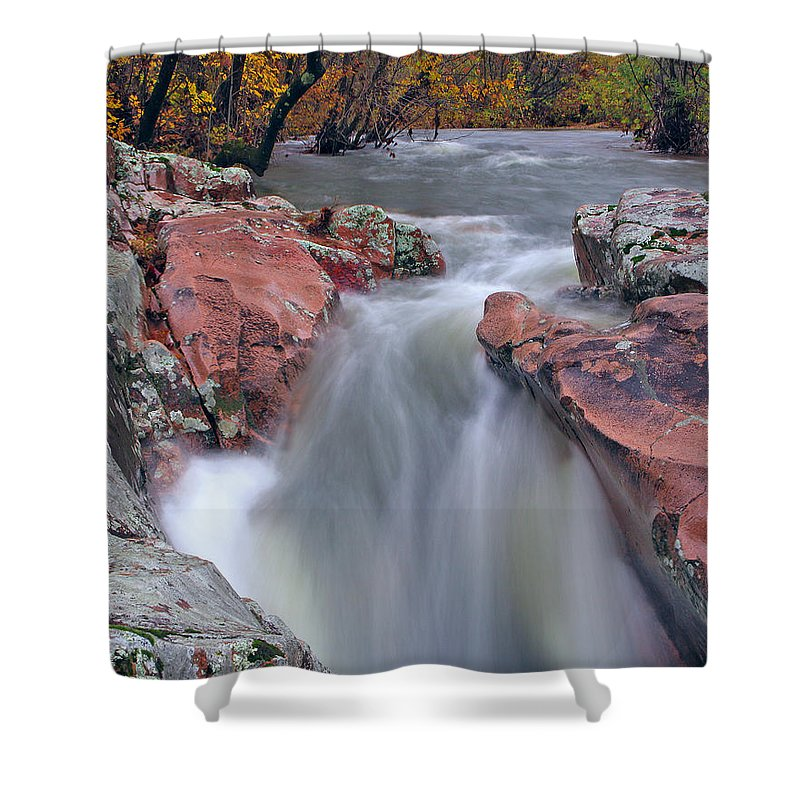 Castor River Shower Curtain featuring the photograph Above The Castor River Shut Ins II by Greg Matchick